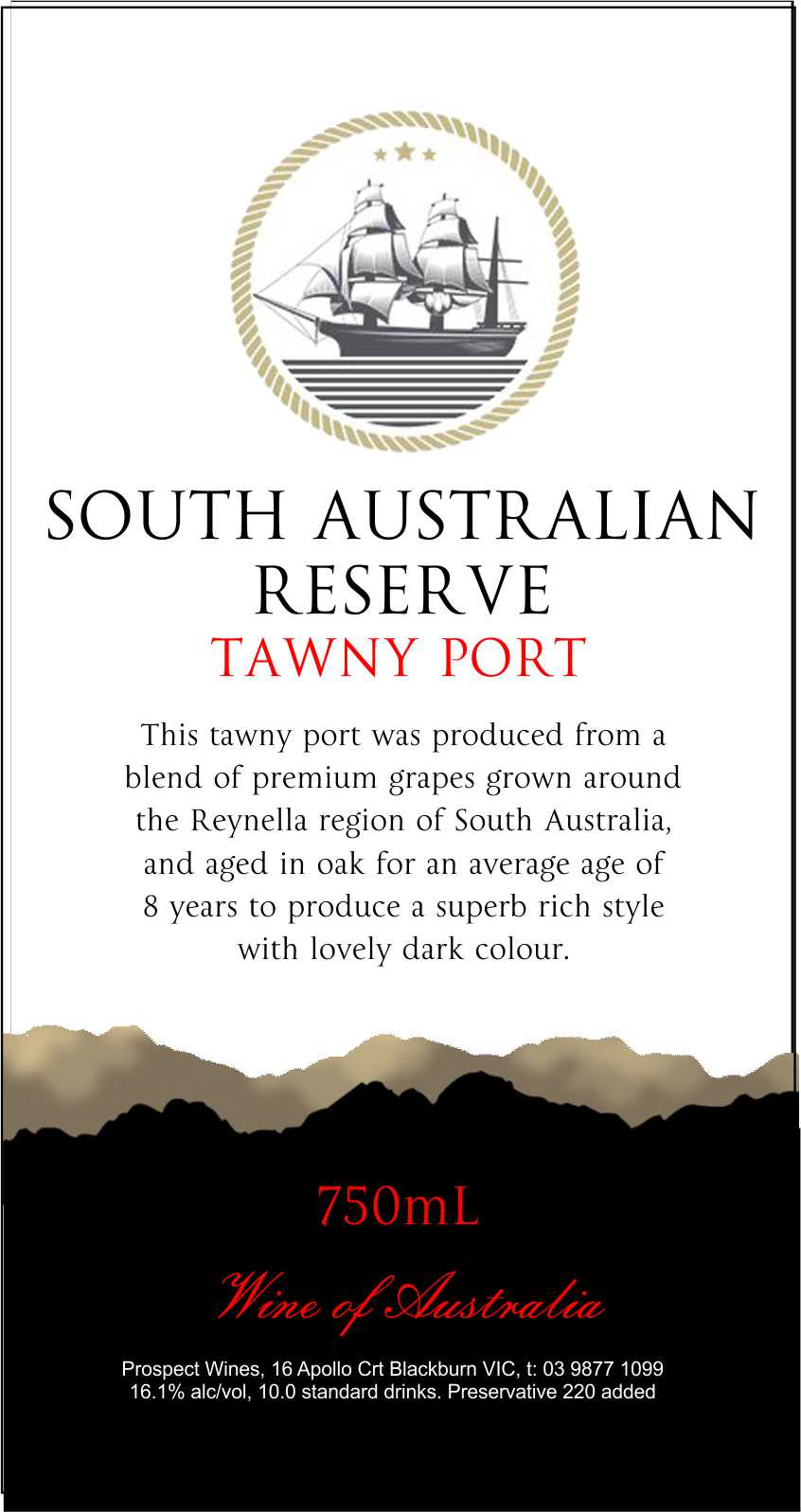 SOUTH AUSTRALIAN 8 YEAR OLD RESERVE PORT