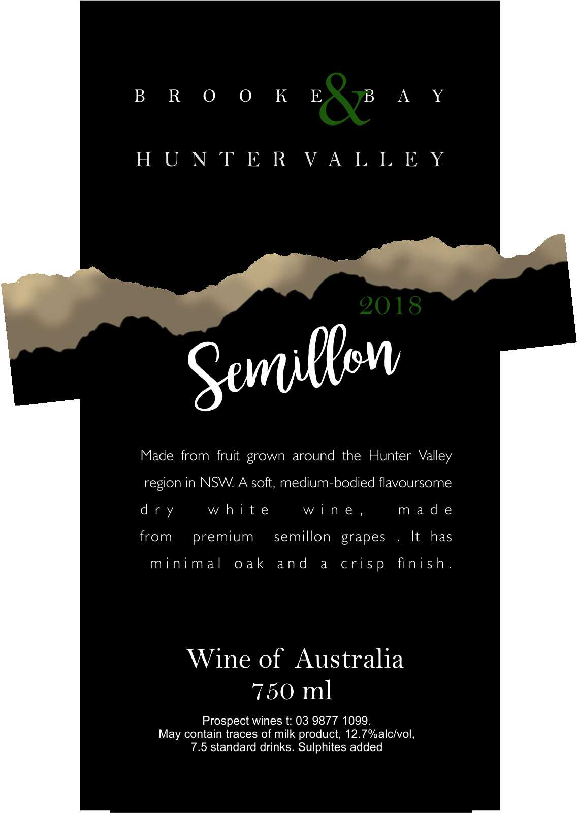 HUNTER VALLEY SEMILLON 2018