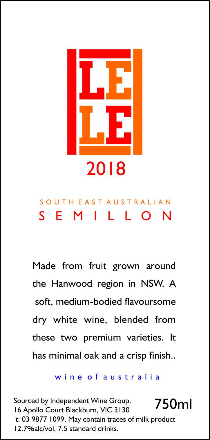SOUTH EAST AUSTRALIAN SEMILLON