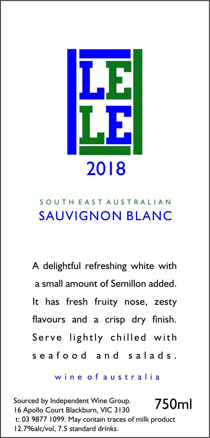 SOUTH EAST AUSTRALIAN SAUVIGNON BLANC SEMILLON