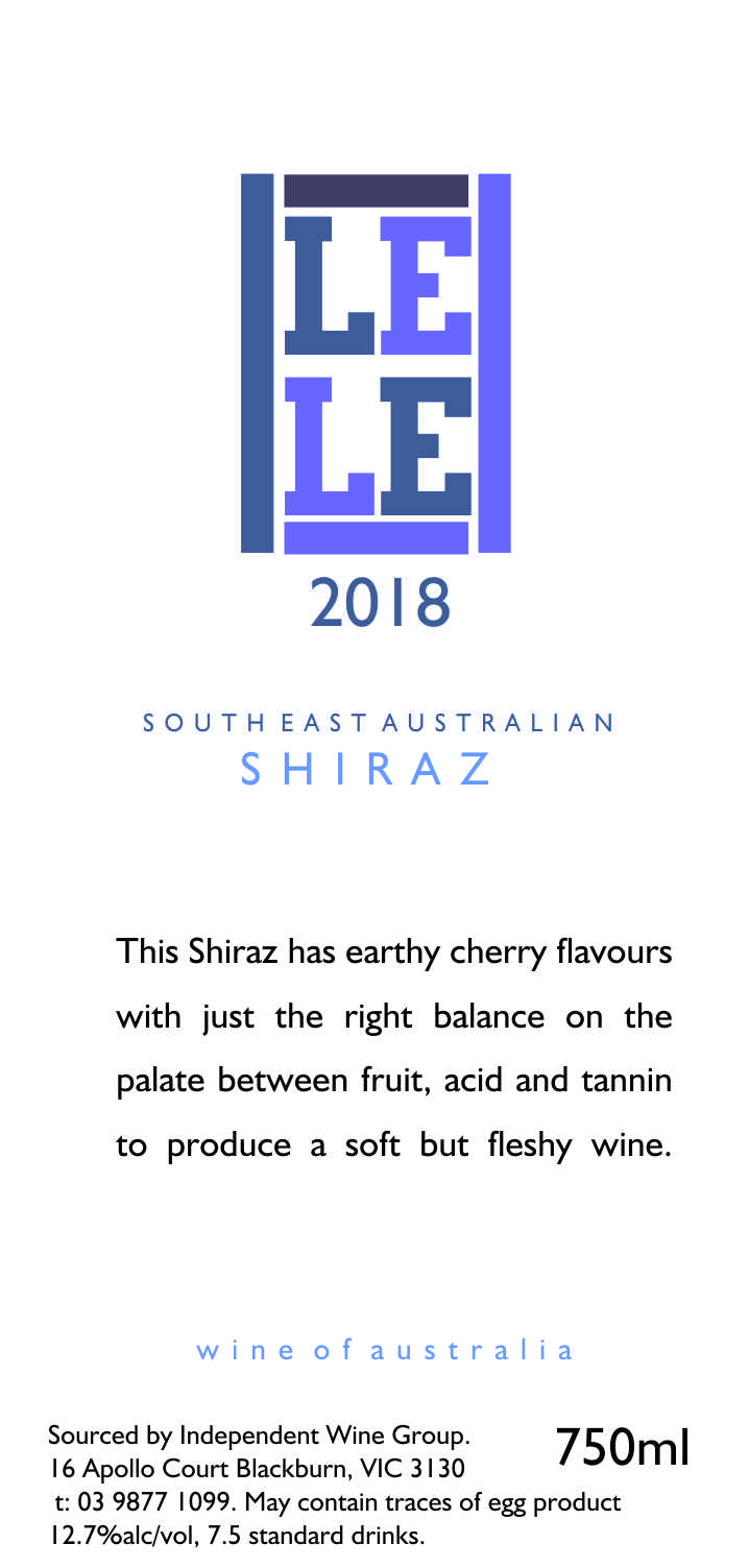 SOUTH EAST AUSTRALIAN SHIRAZ